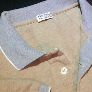 Pair Brunello Cucinelli Contrast Polo Shirts 52